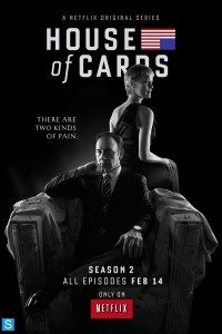 House of Cars, Season 2 poster with Robin Wright and Kevin Spacey
