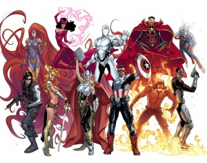 The new Avengers roster!